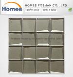Qualität deckt Wand quadratische Hotsales Küche-Wand abgeschrägtes Glasmosaik mit Ziegeln