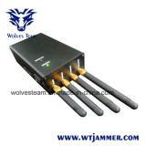 Portátil para Todo el mundo todas las redes de telefonía móvil y WiFi jammer