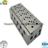 Base molteplice della valvola per aria del solenoide del blocco di alluminio pneumatico