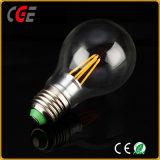 Lâmpada LED 4W/6W Edison E27/A60 de filamentos Ouro/Prata lâmpada LED de luz LED de iluminação LED