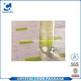 Concevoir l'étiquette claire lustrée imperméable à l'eau de collant