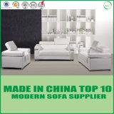 Sofá moderno chinês real clássico branco da mobília da sala de visitas