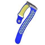 Faixa macia do esporte da borracha de silicone para o silicone iónico da cinta de relógio de Fitbit