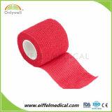 防水乳液自由な着色された伸縮性がある覆いの大きさの卸売の凝集の包帯
