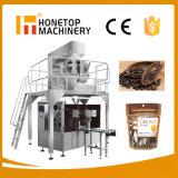 Kaffee-Zuckerkörnchen-Salz-Mutteren-Chip-Imbiss-Schokoladen-Trockenfleisch- vom Rinddattel bricht Popcorn-Bohnen-Korn-Biskuit-NahrungdrehPremade Beutel Doypack Beutel-Verpackungsmaschine ab