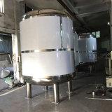 Tanque do revestimento do dobro do aço inoxidável com misturador