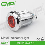Luz de indicador eletrônica do diodo emissor de luz do nível da qualidade do furo 12mm