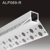 Pflaster-Profil vertiefte LED-die Aluminiumprofil-Punkte, die mit Streifen 3528 120LEDs frei sind