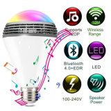 APP контролируемых E27 светодиодные лампы музыки гарнитуры Bluetooth