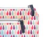 Aduana bonita del bolso del maquillaje del recorrido de la lona de Professhional con la cremallera de cuero para las señoras jovenes