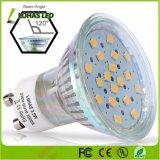 120 grados del ángulo del haz de 110-240 V de 3,5 W GU10 Foco LED de vidrio