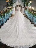 Королевская невеста Gown/2017 платья венчания/поезда собора Luxious Bridal ультрамодная