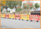 2m Workzone를 위한 부는 Red&Yellow 플라스틱 도로 방벽