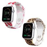 연약한 고무 실리콘 Apple 시계 결박을%s 주문 인쇄 시계 줄