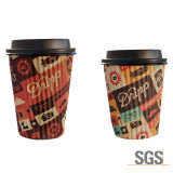 taza de café doble disponible del papel de empapelar de 8oz 12oz 16oz