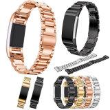 De stevige Band van het Horloge van het Roestvrij staal voor Fitbit Last 2