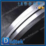 De Vleugelklep van het Type van Wafeltje van het Roestvrij staal van Didtek Met Kettingwielen