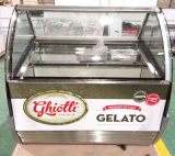 Congelador do indicador do Showcase do gelado de Gelato (QD-BB-16)