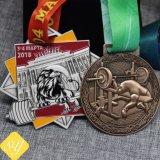 Высокое качество пользовательских умирают литой металлический эмаль футбола медаль