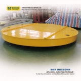 Carrello ferroviario libero di trasferimento di rotazione di 360 gradi sul pavimento del cemento