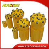 채석장 바위를 위한 T45 T51 T61 Retrac 착암기 스레드 탄화물 단추 드릴용 날