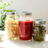 Freie Beispielnahrungsmittelspeicher-Glasglas mit Schraubverschluss-