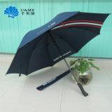 鉄フレームのヘビパターン自動ダイヤモンドのハンドルの安いゴルフ傘