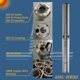80W-2200W CC del sistema de bomba de agua solar con MPPT Controlador, pozo profundo Bomba, Bomba de riego