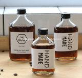 Heißer Verkaufs-leerer freier Glasfeuerstein-flache Wein-Flaschen-Spiritus-Alkohol-Flaschen