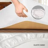 China Mayorista de fábrica de tejido de poliéster resistente al agua Hotel protector de colchón y almohada portada
