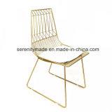 世紀半ばの金属のカウンターの高い食事の金属線の椅子