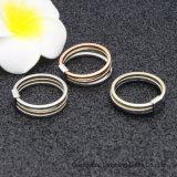 Три цветовых смешанных Gun-Black моды и 18K Gold & Роуз Gold & Родием оцинкованные кольца для украшения для женщин и модные украшения