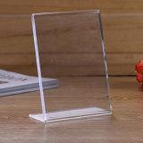 Houder van het Menu van de helling de Achter Acryl - 8.5 X 11 van de Premie van het Portret Duim van de Frames van de Advertentie, de Houder van de Vertoning van het Teken van de Lijst, het Duidelijke Frame van de Stijl van de Schildersezel, de Plastic Houder van de Brochure
