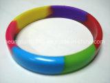 Wristband Mixed di lustro dei monili del silicone di OEM/ODM e del silicone di multi colori