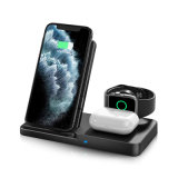 Draadloze oplader, 3 in 1 Qi-gecertificeerd Fast Wireless Charging Station voor Airpods/Apple Watch Series/ iPhone 12/11/11 PRO/11 PRO Max/XS/XS Max/xr/8/8 Plus/SE