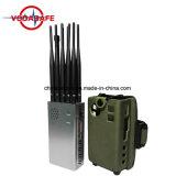 10 Antenas GPS celular portátil Jammer/bloqueador, de mão 10 Band Jammer /Blocker, GSM 2G, 3G, 4G de interferência de sinal Wi-Fi