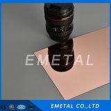 304 8K nam Gouden Super Spiegel Pools beëindigen het Blad van het Roestvrij staal van de Kleur voor de Decoratie van de Staaf toe