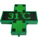 Affichage LED étanche pharmacie Croix Croix LED écran du signe croix de la pharmacie de signer l'affichage à LED pour l'église de l'hôpital de pharmacie