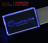 De Stok 16GB USB van het Geheugen van het Kristal USB van de douane met LEIDEN Licht