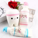 Nettes Karikatur-Zahn-hängendes Squishy Spielzeug-Squishy langsamer steigender Zahnpasta-weiche Pressung-netter Stretchy Spielzeug-Geschenk-Großverkauf