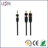 Câble AV, Prise stéréo 3,5 mm à 2 fiches RCA, deux couleurs Type de moulage