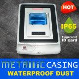 Resistente al agua IP65 contra polvo de metal Wiegand de tarjeta de identificación biométrica independiente de dispositivo para una sola puerta