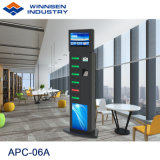 Station van de Lader van de Zaktelefoon van de Koffiebar het Openbare Mobiele met 19 '' Adverterende Speler apc-06A