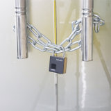 Candado de bloqueo inteligente de huellas digitales de alta tecnología de bloqueo de puertas con llaves de repuesto