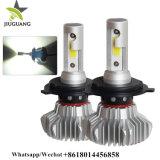 Nuevo 9000LM sin ventilador Canbus H4 H7 H13 H11 9005 CREE LED Auto Coche DRL para la conducción de la luz antiniebla