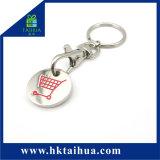 Metallo stampato marchio Keychain di figura rotonda di promozione