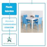 Tabela ao ar livre personalizada da mobília do jardim dos produtos plásticos e modelagem por injeção ajustada da cadeira