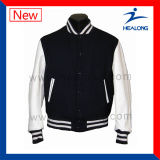 Chaqueta del béisbol del invierno de los últimos del diseño de Healong hombres de la ropa de deportes