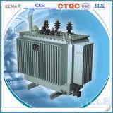 tipo transformador inmerso en aceite sellado herméticamente de la base de la serie 10kv Wond de 1.25mva S9-M/transformador de la distribución