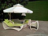 Открытый белый диван-кровать новый дизайн плетеной мебели